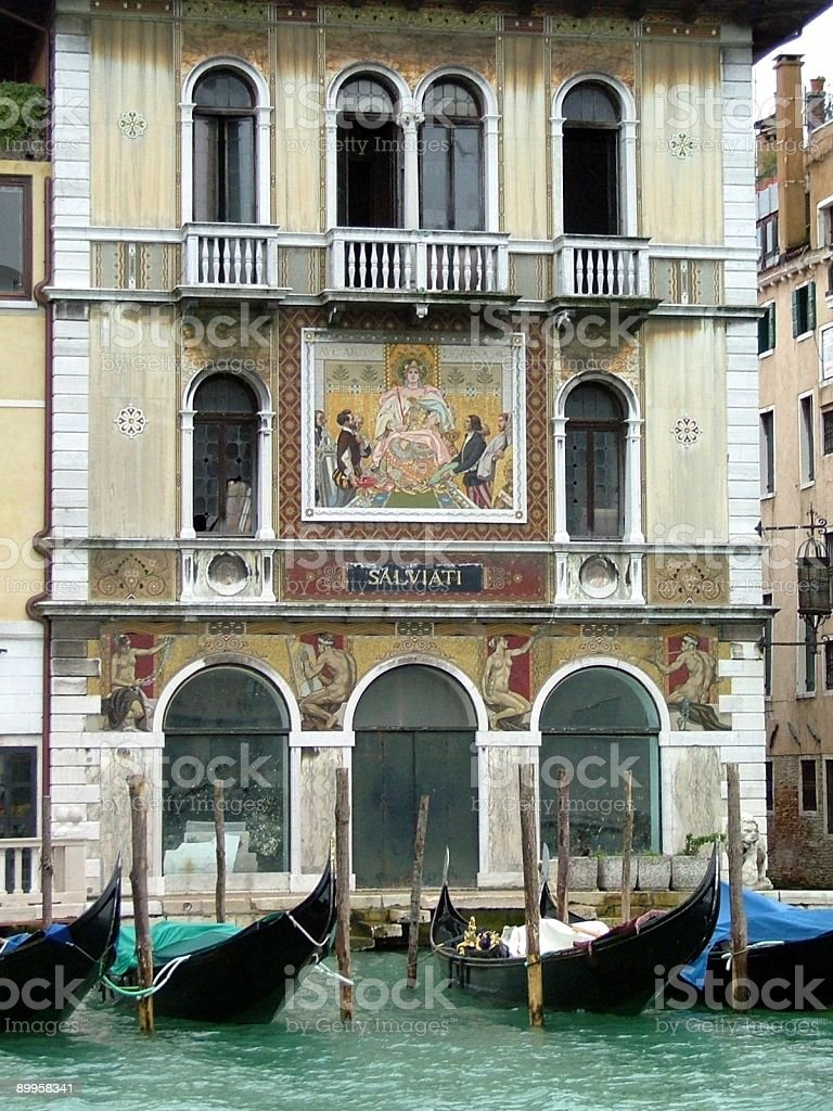 Grand Canal's Art Work, Palaces, Gondolas royalty-free stock photo