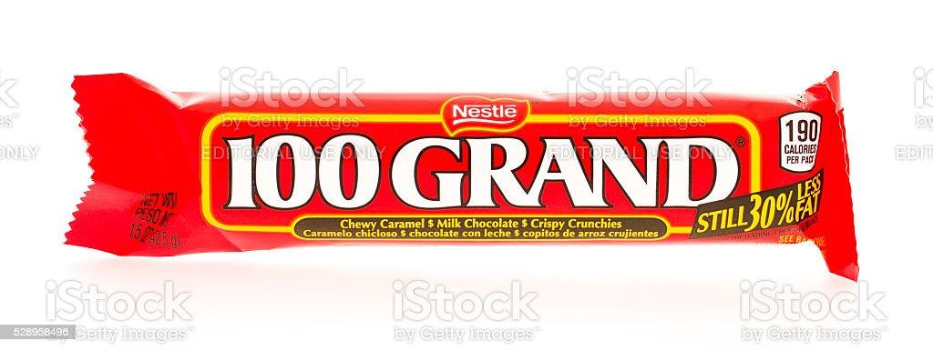 100 Grand Candy Bar stock photo