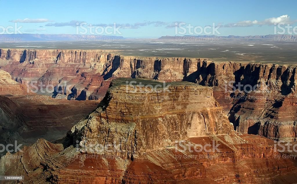 Grand Canyon Aerial royalty-free stock photo