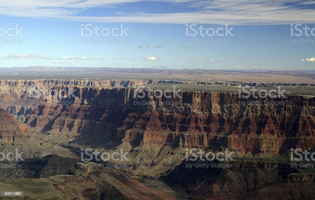 Grand Canyon Aerial royalty-free stock photo