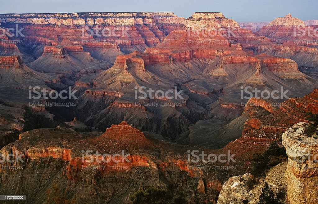 Grand Canyon After Glow stock photo