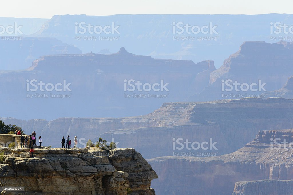 Grand Canyon and People royalty-free stock photo