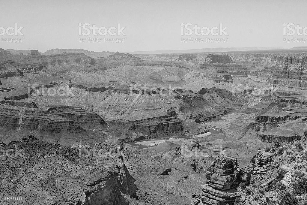 Grand Canyon e do rio foto royalty-free