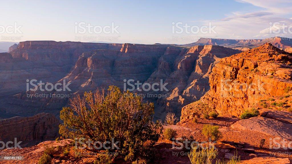 Grand Canyon Arizona at sunset Lizenzfreies stock-foto