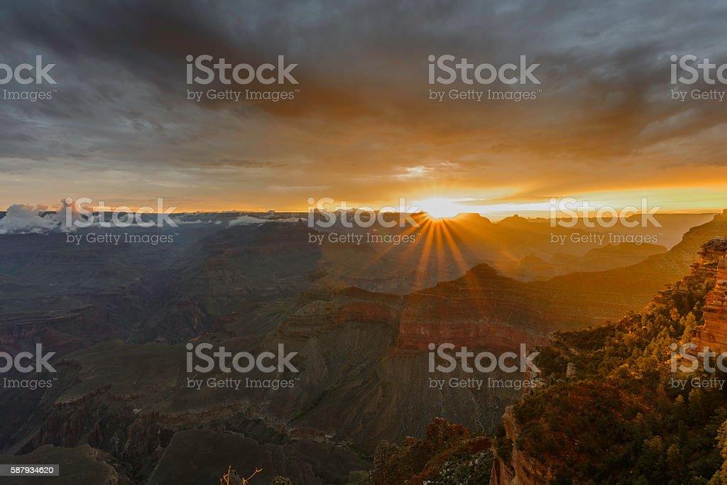 Grand Canyon at dawn stock photo