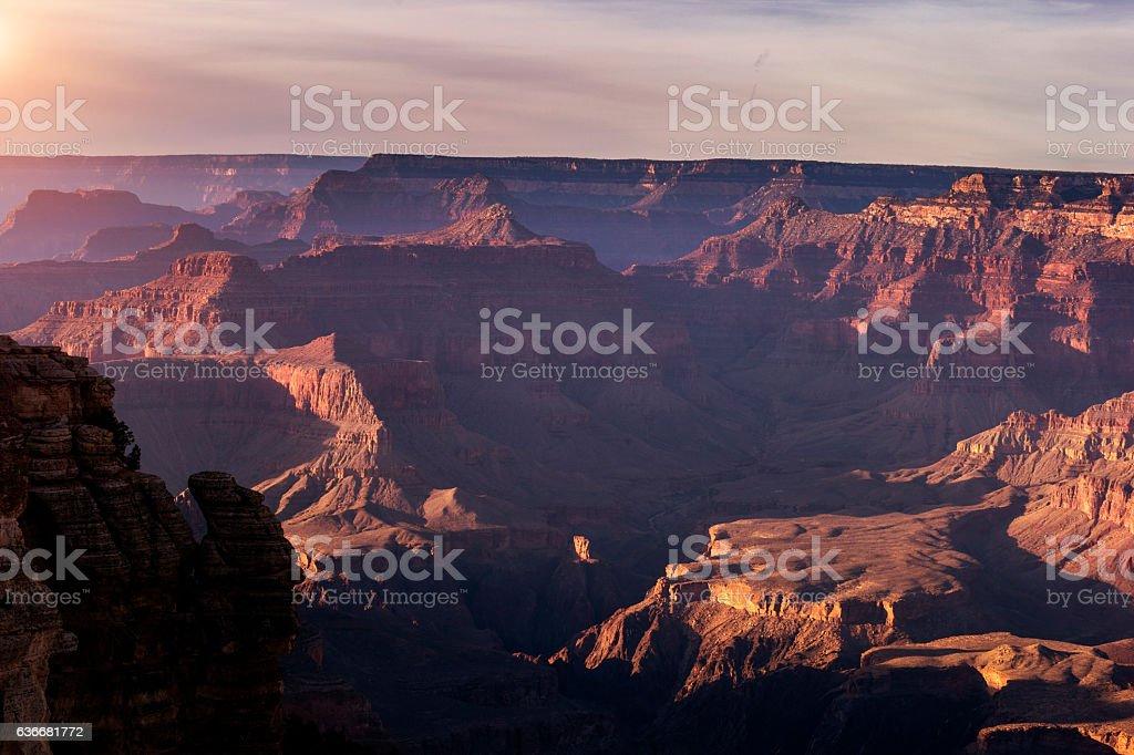 Grand Canyon at Sunset Series stock photo
