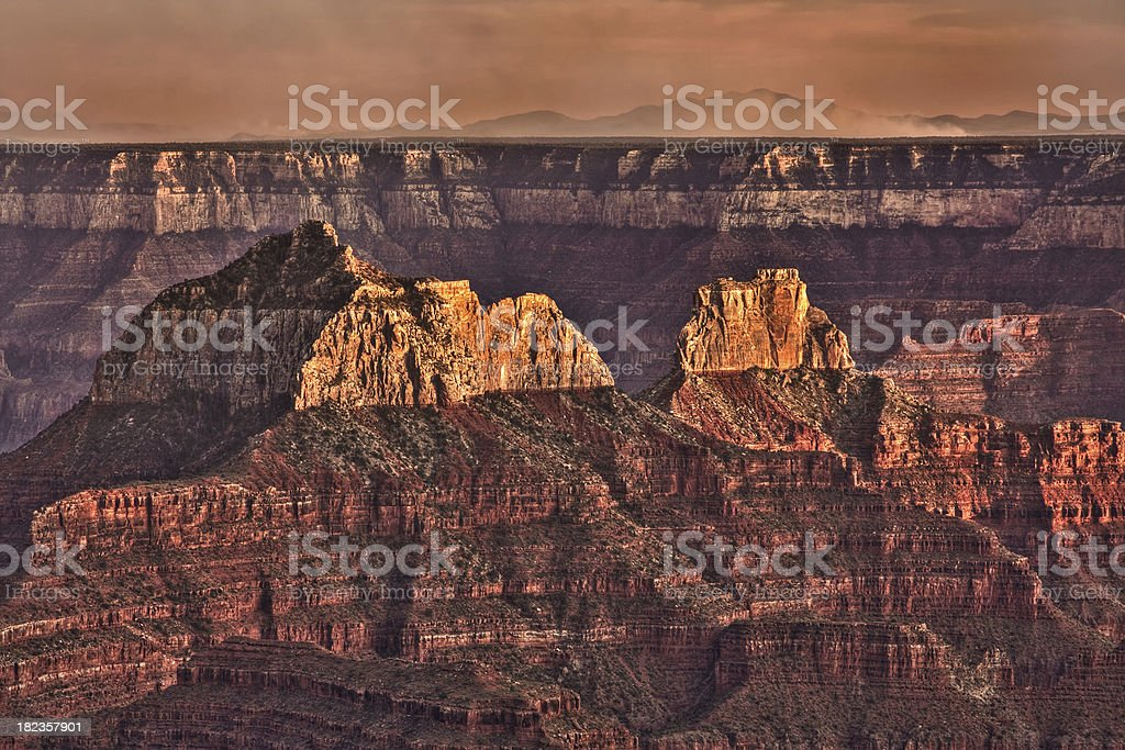 Grand Canyon - Bright Angel Point stock photo
