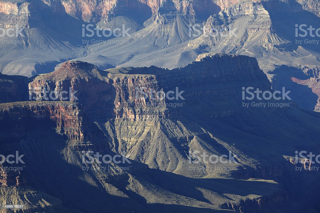 Grand Canyon detail from North Rim stock photo