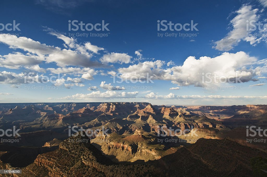 Grand Canyon during the day with blue sky royalty-free stock photo
