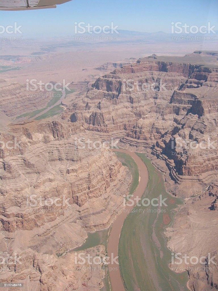 Grand Canyon from above stock photo