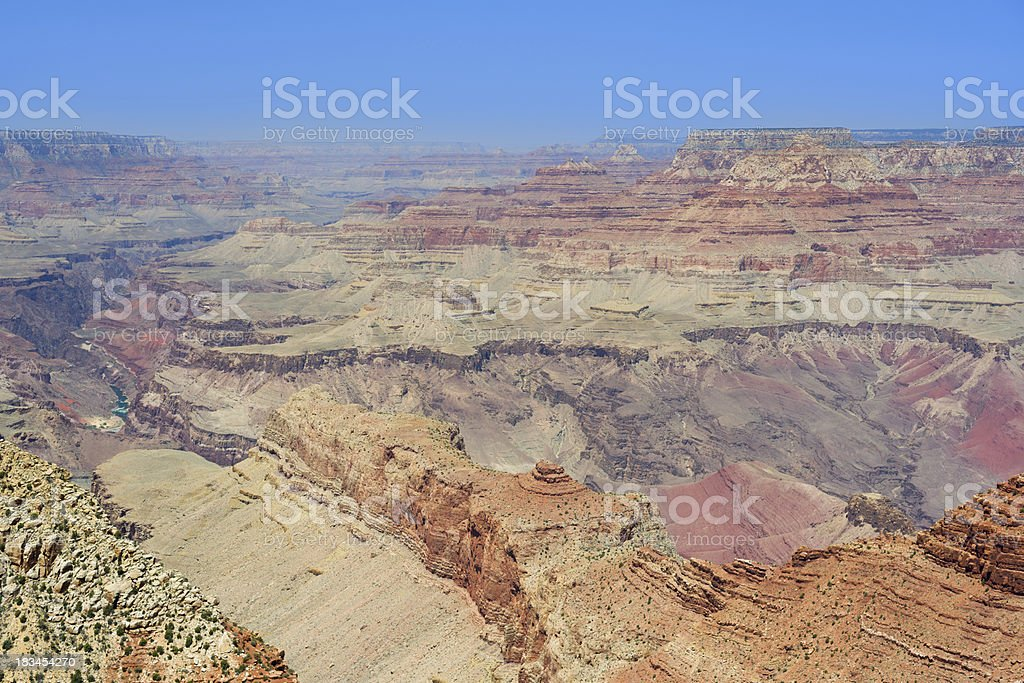 Grand Canyon from the Navajo point royalty-free stock photo