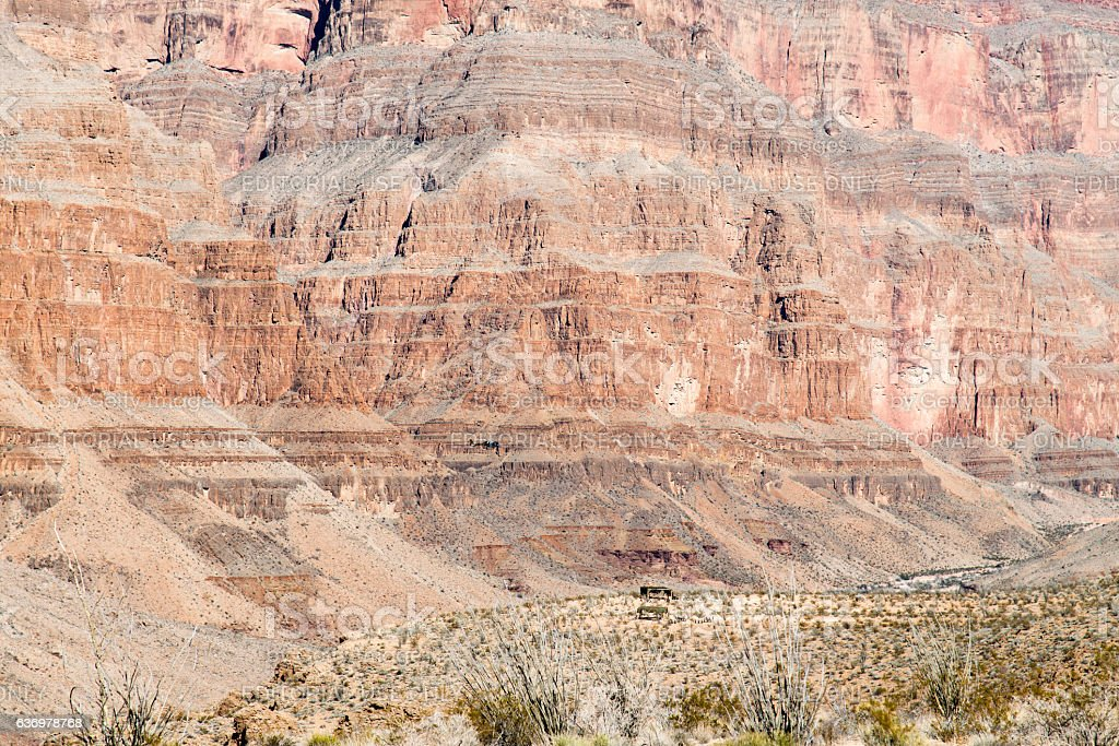 Grand Canyon Helicopter stock photo