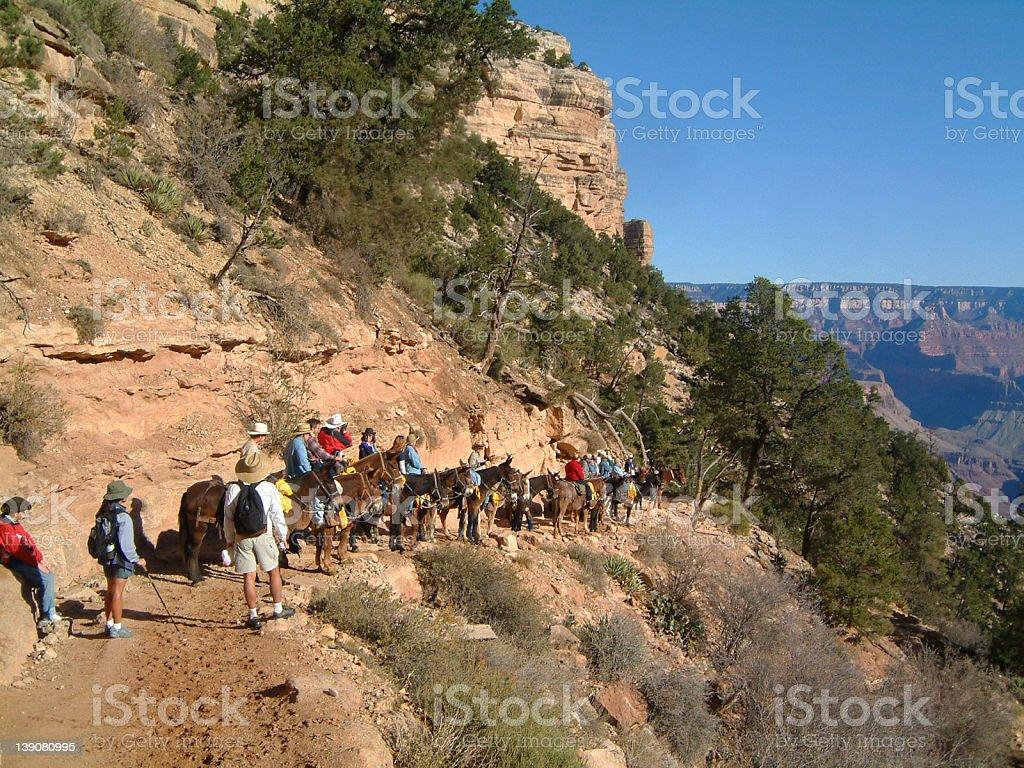 Grand Canyon Hike 3 royalty-free stock photo