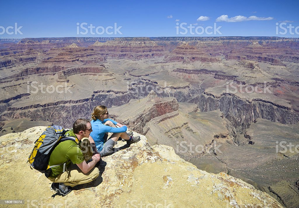 Grand Canyon Hikers royalty-free stock photo