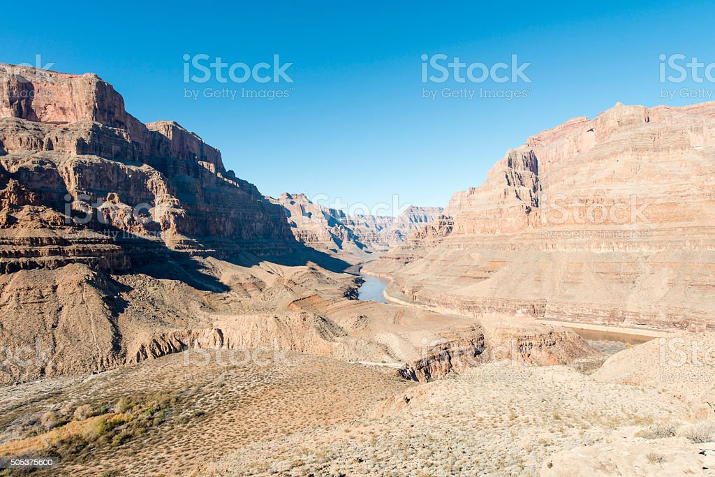 Grand Canyon landscape at the West Rim stock photo