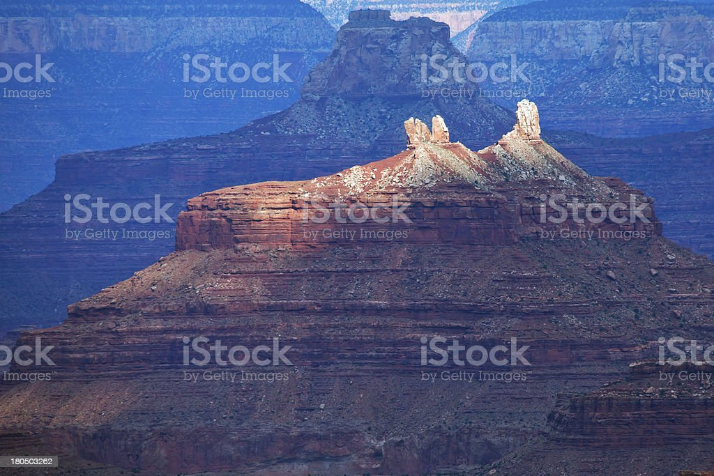 Grand Canyon lights royalty-free stock photo