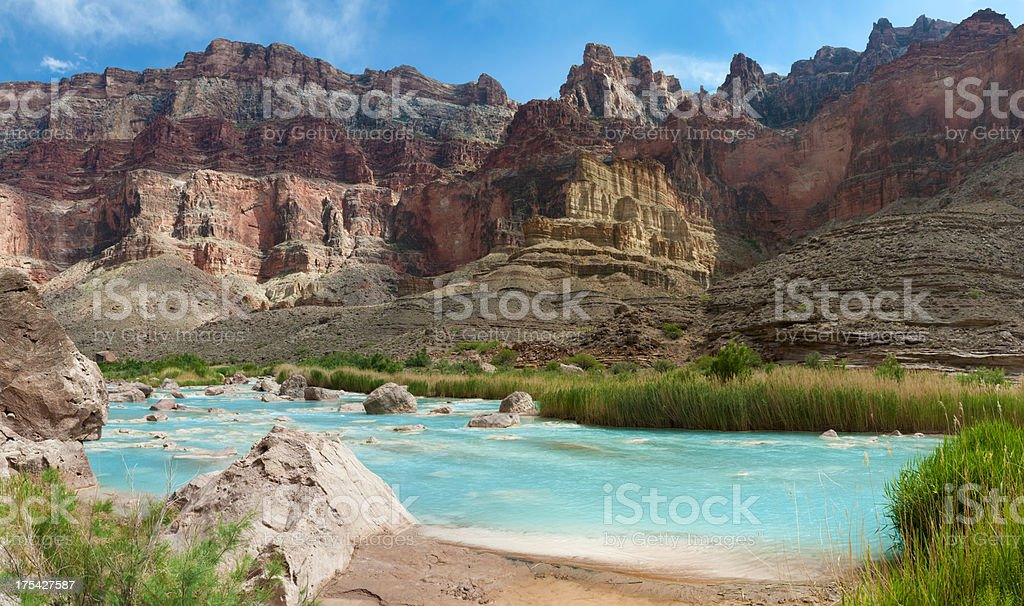 Grand Canyon - Little Colorado River Confluence stock photo