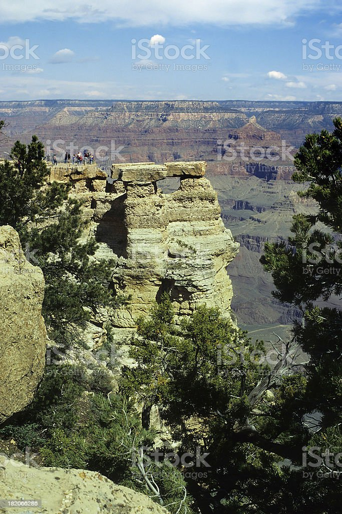 Grand Canyon Lookout Point royalty-free stock photo