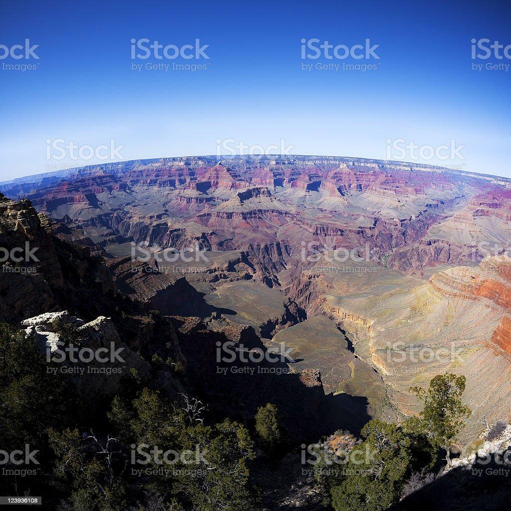 Grand Canyon National Park Against Vivid Blue Sky royalty-free stock photo