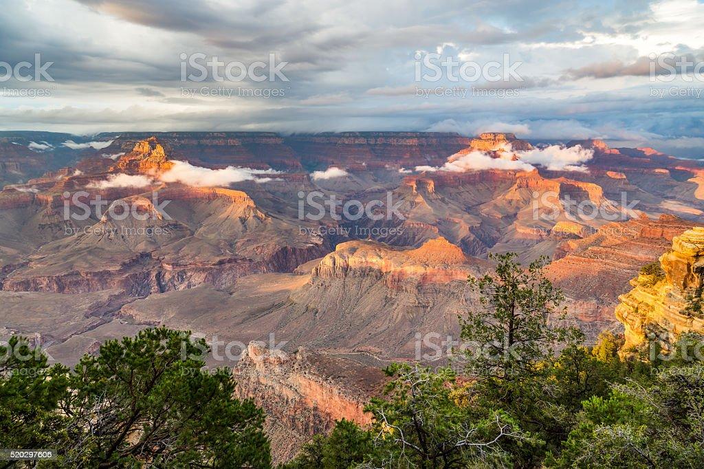 Grand Canyon National Park at dusk, Arizona, USA stock photo