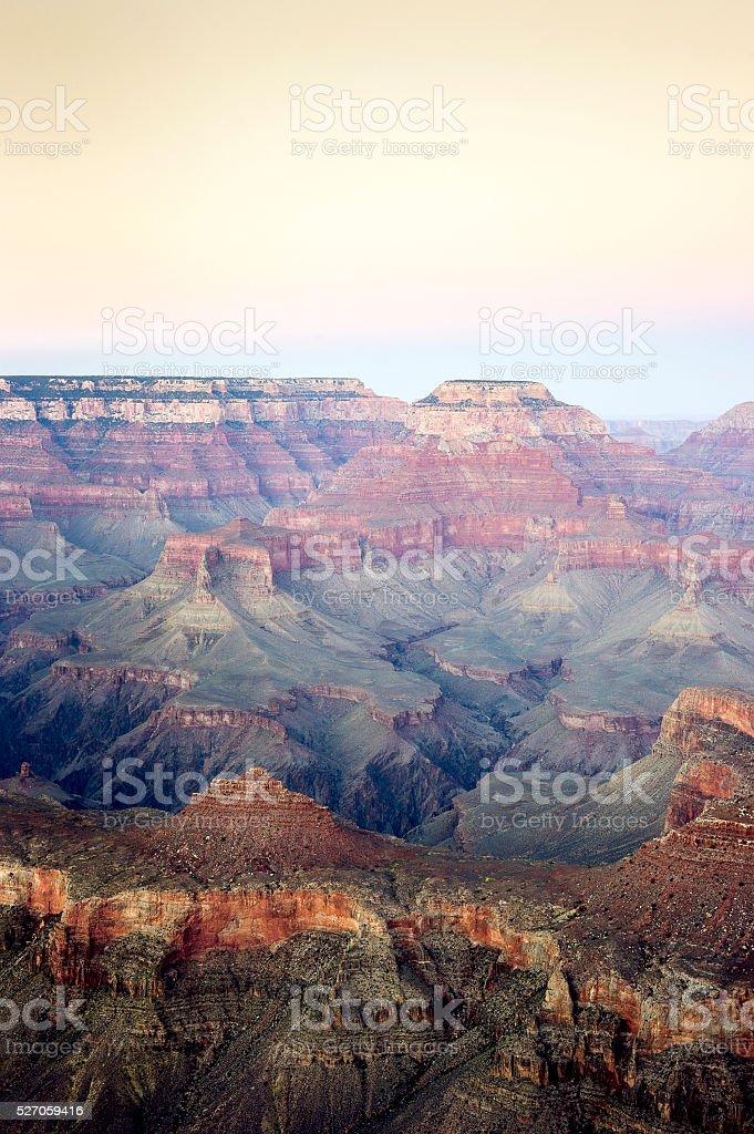 Grand Canyon National Park at sunset, Arizona, USA stock photo