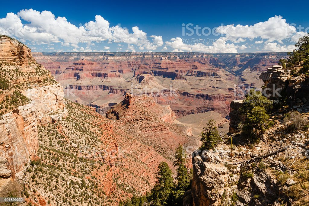 Grand Canyon National Park Bright Angel Trail and Indian Garden stock photo
