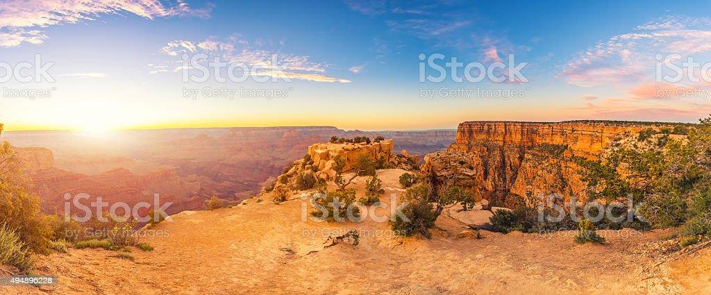 Grand Canyon National Park Extreme Panorama stock photo