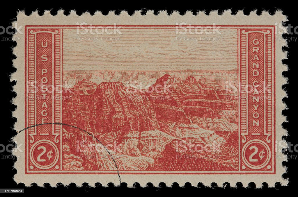 Grand Canyon National Park US postage stamp royalty-free stock photo