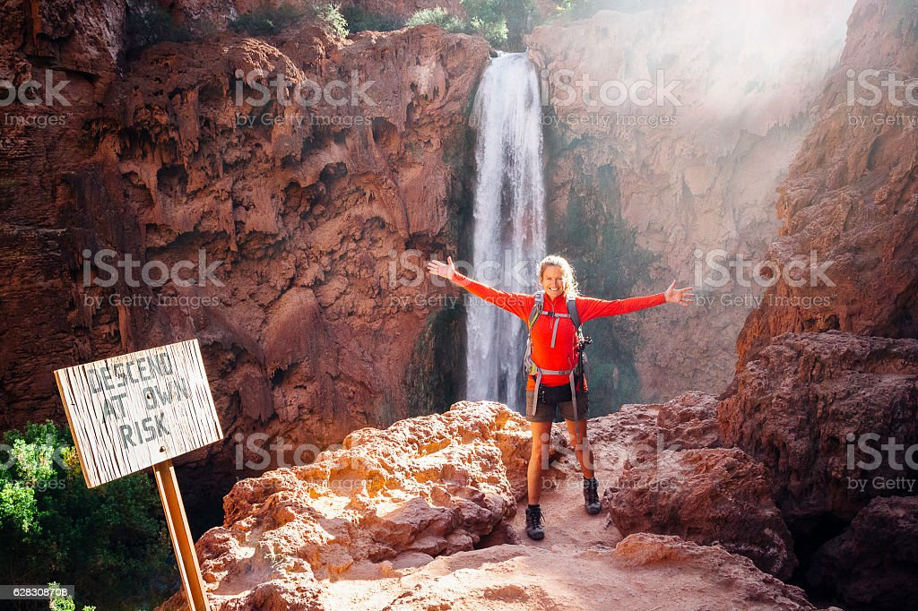 Grand Canyon National Park Waterfall stock photo