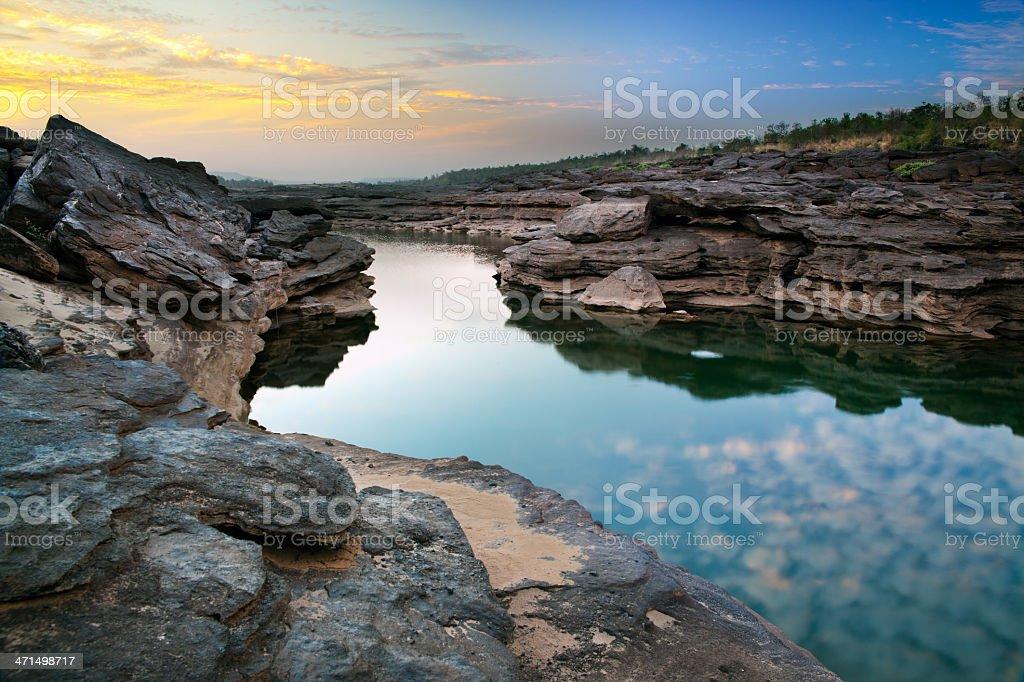 Grand Canyon of Asia, 'Sam Phan Bok', Thailand royalty-free stock photo