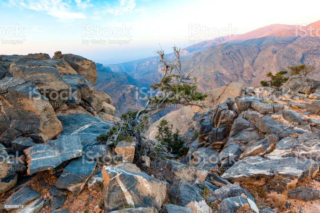 grand canyon of oman. stock photo