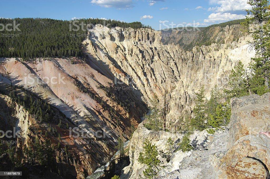 Grand Canyon of Yellowstone National Park royalty-free stock photo