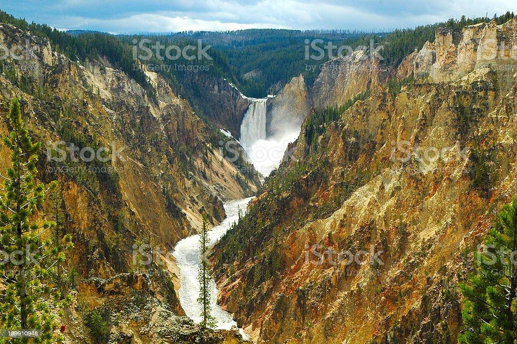 Grand Canyon of Yellowstone stock photo