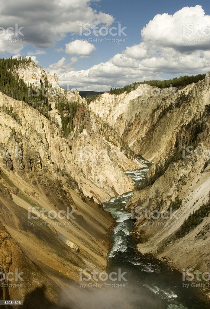 Grand Canyon of Yellowstone River royalty-free stock photo