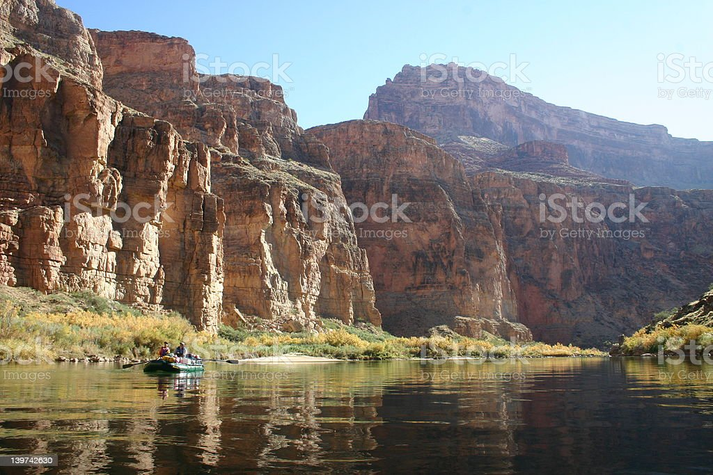 Grand Canyon Rafting royalty-free stock photo