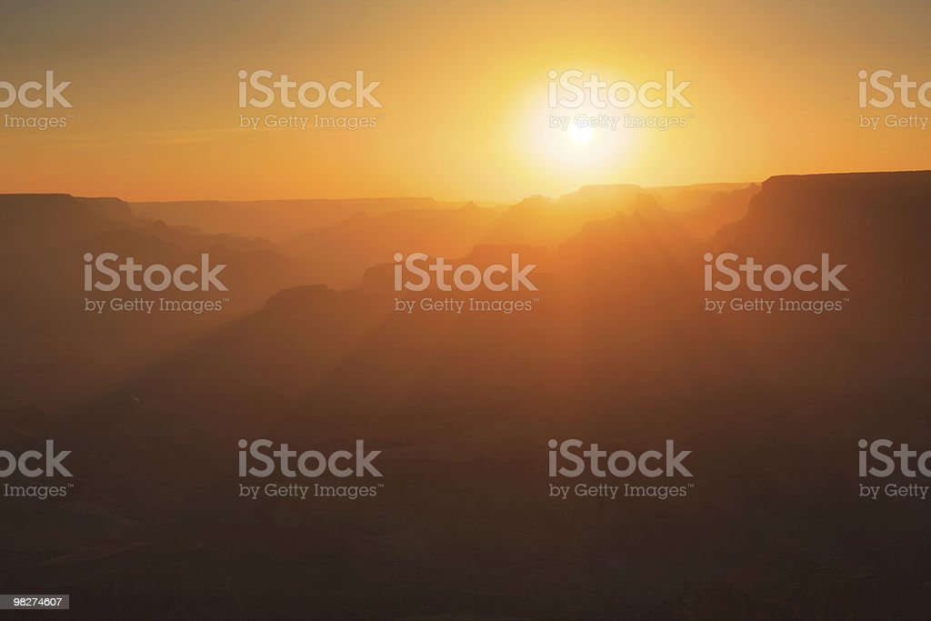 Grand Canyon Silhouettes royalty-free stock photo