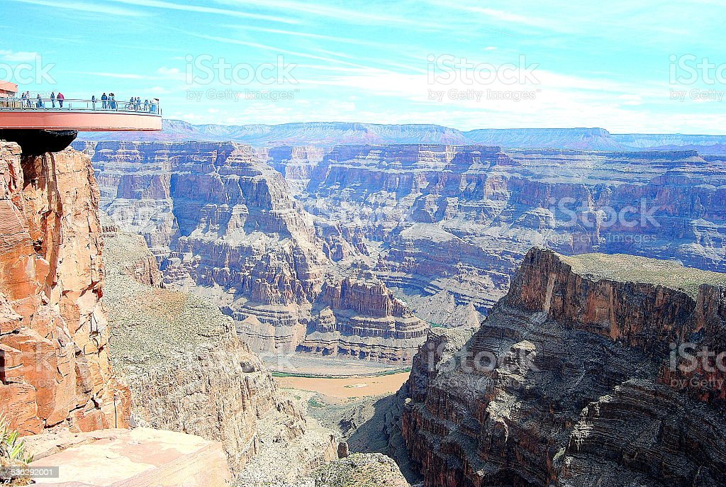 Grand Canyon Skywalk stock photo