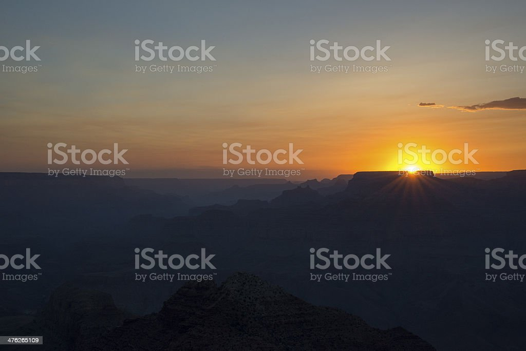 Grand Canyon Sunset royalty-free stock photo