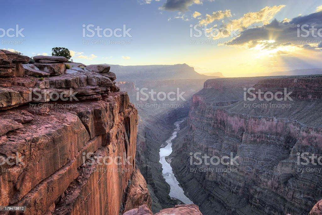 Grand Canyon Toroweap Point Sunrise stock photo