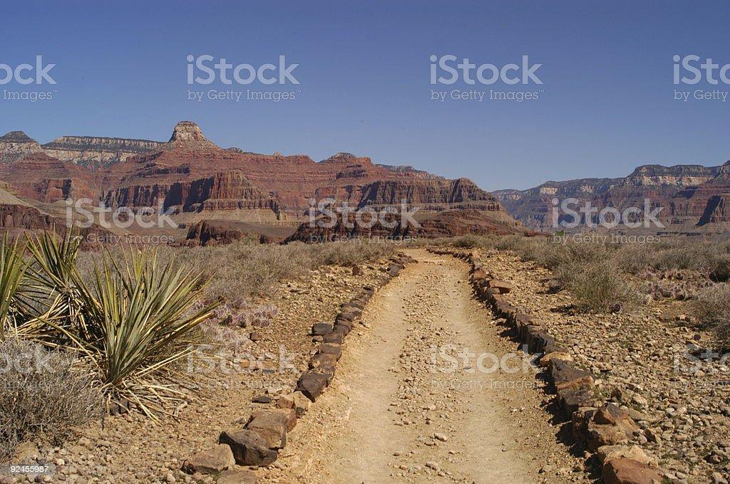 Grand Canyon Trail stock photo
