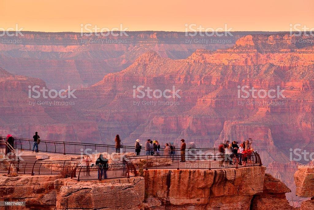 Grand canyon view point Arizona USA at sunset stock photo