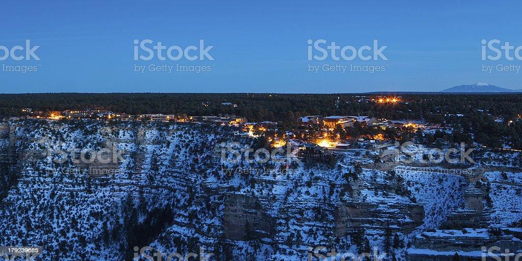Grand Canyon Village At Dusk stock photo