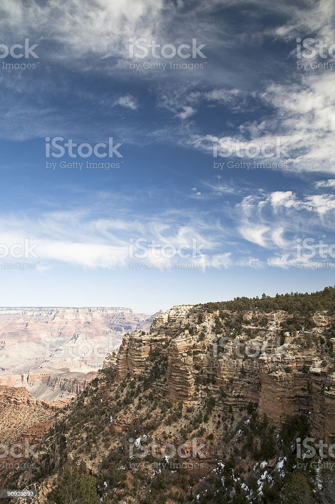 Grand Canyon with bright blue sky stock photo