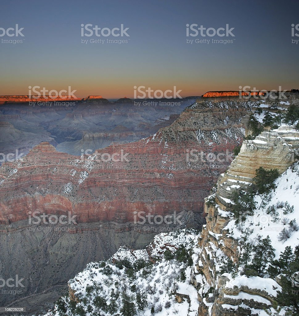 Grand Canyon with Snow royalty-free stock photo