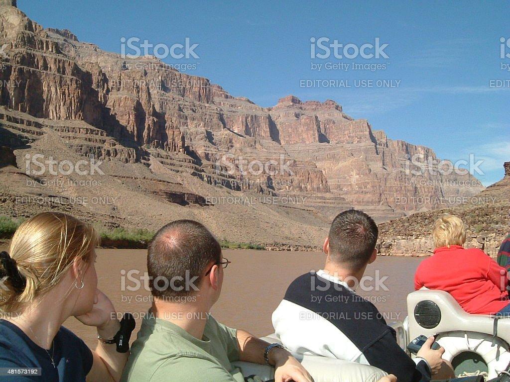 Grand Canyon :Excursiones en bote por el río Colorado foto de stock libre de derechos