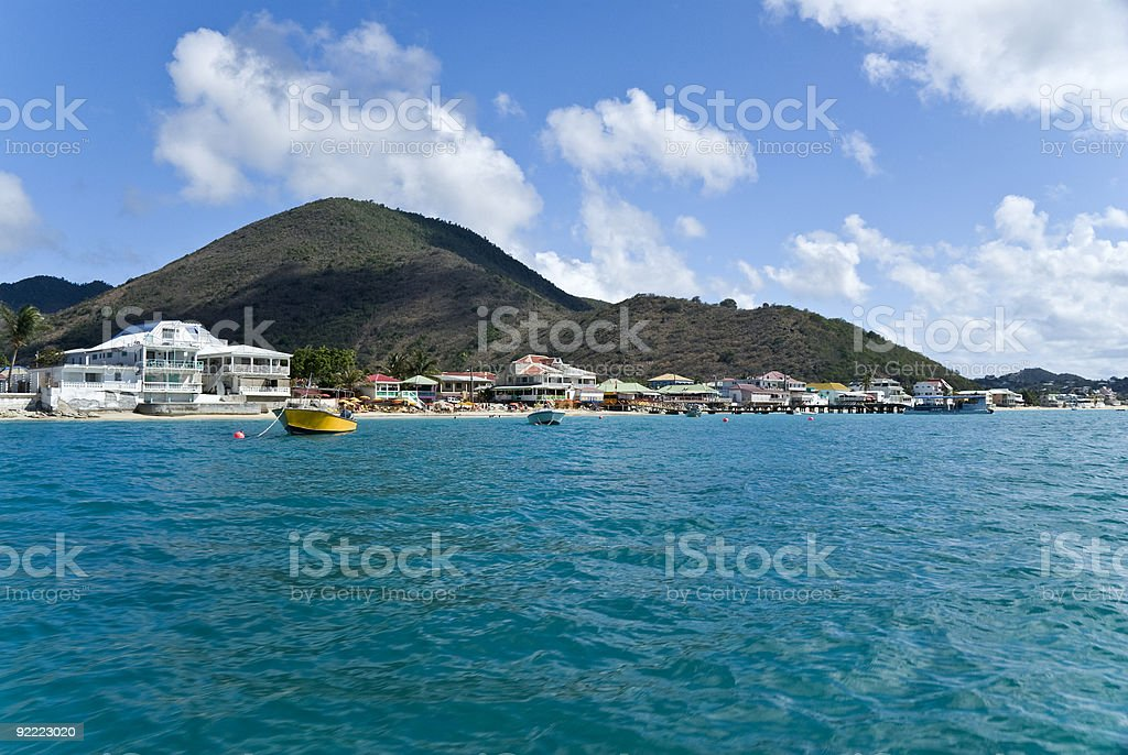 Grand Case Village of the French St. Martin stock photo