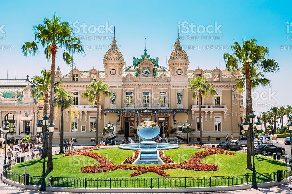 Grand casino in Monte Carlo in Monaco. stock photo