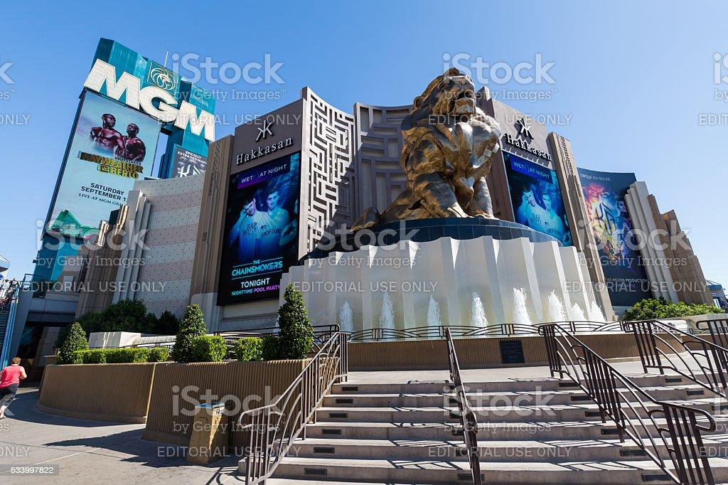 MGM Grand Casino on the Las Vegas Strip stock photo