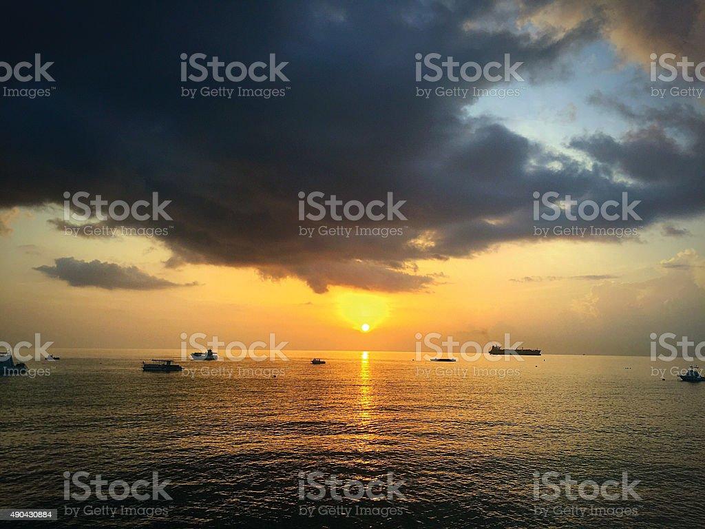 Grand Cayman Sunset stock photo