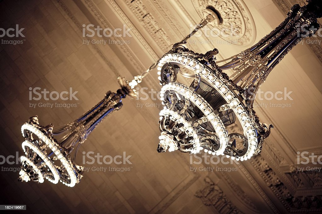 Grand Central Station Chandelier royalty-free stock photo